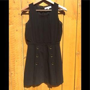 LOFT Sleeveless Black Midi Dress